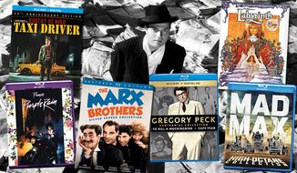 Gift ideas for cinema connoisseurs include Mad Max High Octane Collection, Taxi Driver: 40th Anniversary Edition, The Marx Brothers Silver Screen Collection, Prince Movie Collection, Gregory Peck Centennial Collection, The Bourne Ultimate Collection, Labyrinth: 30th Anniversary Edition and Citizen Kane: 75th Anniversary Edition.