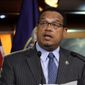 Rep. Keith Ellison, Minnesota Democrat, told labor leaders he would leave Congress if he wins his bid to lead the DNC. (Associated Press)