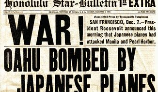 A newspaper front page following the Japanese surprise attack on Pearl Harbor 75 years ago. (U.S. Census Bureau)
