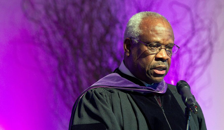 """The Smithsonian museum still has """"no plans"""" to include in its exhibitions a reference to Supreme Court Justice Clarence Thomas, one of the high court's conservative stalwarts who celebrates his 25th anniversary on the bench this year. (Associated Press) ** FILE **"""