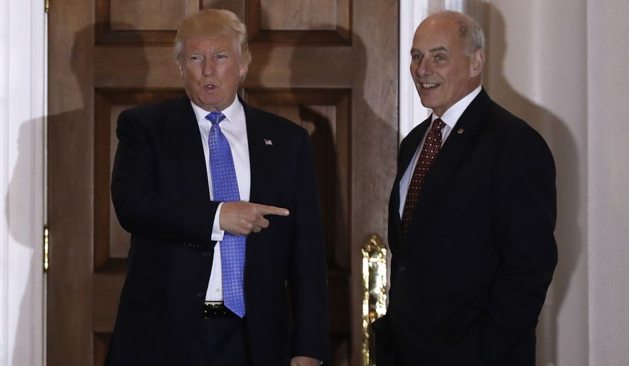 Gen. John F. Kelly caught the eye of President-elect Donald Trump's top advisers with a forceful appearance before Congress in 2014 and 2015, where he said he was shocked at how easily smugglers were able to penetrate the U.S.-Mexico border, and said it represented a major hole in national security. (Associated Press)