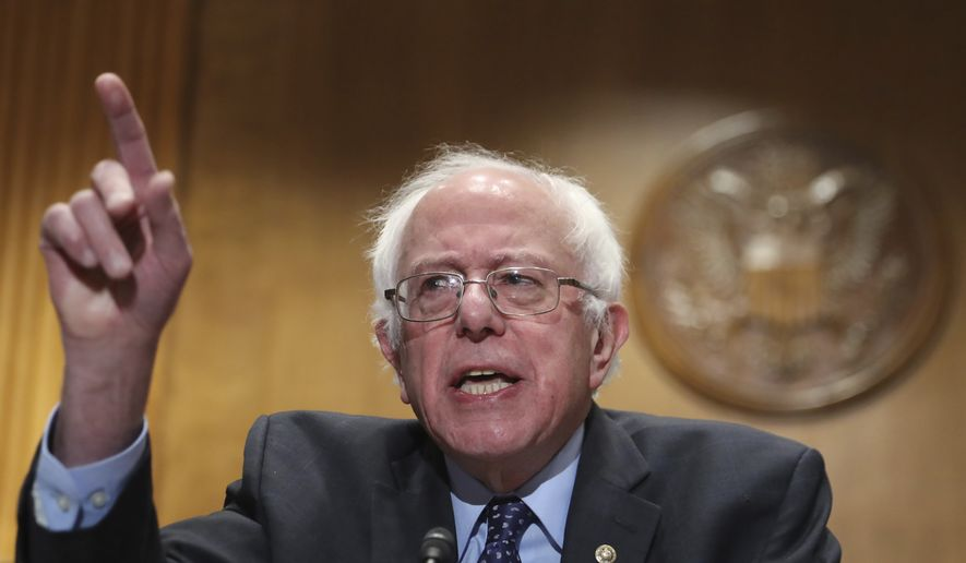 """Sen. Bernie Sanders, I-Vt., speaks during a news conference on Capitol Hill in Washington, Wednesday, Dec. 7, 2016, to deliver over million petition signatures demanding that President-elect Donald Trump, House Speaker Paul Ryan, and Senate Majority Leader Mitch McConnell """"keep their hands off the American people's earned Medicare benefits."""" (AP Photo/Manuel Balce Ceneta) ** FILE **"""