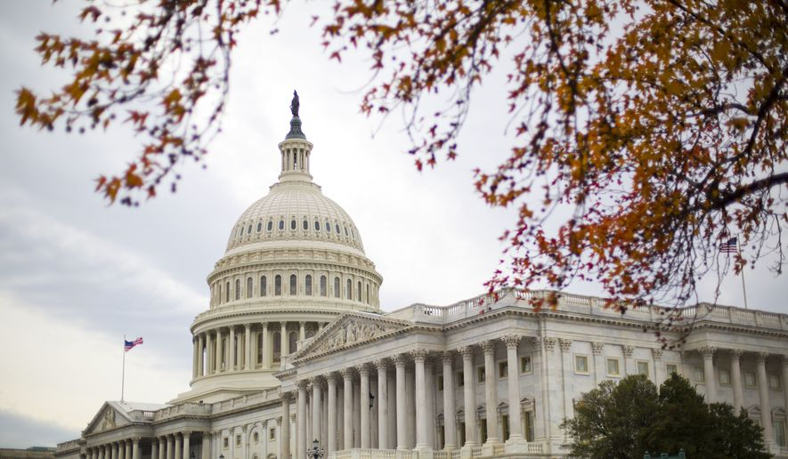 The Capitol Building as seen in Washington, Thursday, Dec. 8, 2016. A day ahead of a government shutdown deadline, Congress scrambled on Thursday, Dec. 8, 2016, to wrap-up unfinished business, voting decisively to send President Barack Obama a defense policy bill but facing obstacles on a stopgap spending measure. (AP Photo/Pablo Martinez Monsivais)