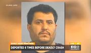 Miguel Angel Villasenor-Saucedo, 40, is accused of killing two people in Kentucky during an Oct. 22 car accident and fleeing the scene. The illegal immigrant had been deported eight times. (WAVE-3 NBC Kentucky screenshot)