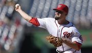 Washington Nationals reliever Koda Glover tore a labrum in his hip late last season. / AP photo