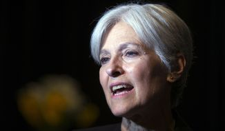 Green party presidential candidate Jill Stein. **FILE (AP Photo/D. Ross Cameron, File)