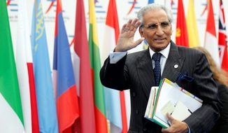 """""""We will work closely with the administration,"""" Tariq Fatemi, a top adviser to Prime Minister Nawaz Sharif, told The Washington Times. """"We believe Mr. Trump's business background and strong interest in economic ties match the vision and policies"""" of Mr. Sharif. (Associated Press)"""