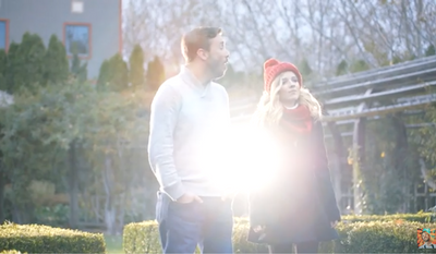 "Jackie Evancho and Peter Hollens in a YouTube music video covering John Lennon's ""Happy Xmas (War Is Over)"" Taken via screen capture."