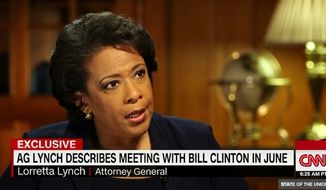 Attorney General Loretta Lynch said she regrets her controversial meeting over the summer with former President Bill Clinton, saying she should have recognized ahead of time how it would be perceived by the public. (CNN)