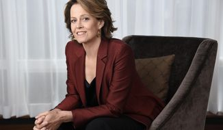 "FILE - This Sept. 10, 2016 file photo shows Sigourney Weaver posing for a portrait at the Shangri-La Hotel to promote her film,  ""A Monster Calls,"" in Toronto. The film will be released in select theaters on Dec. 23, and opens nationwide on Jan. 6. (Photo by Chris Pizzello/Invision/AP, File)"