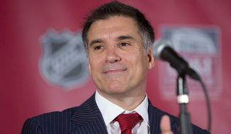 In this Sept. 27, 2013 file photo, Vincent Viola talks to the media about the future of the Florida Panthers during a press conference in Sunrise, Fla. (AP Photo/J Pat Carter)