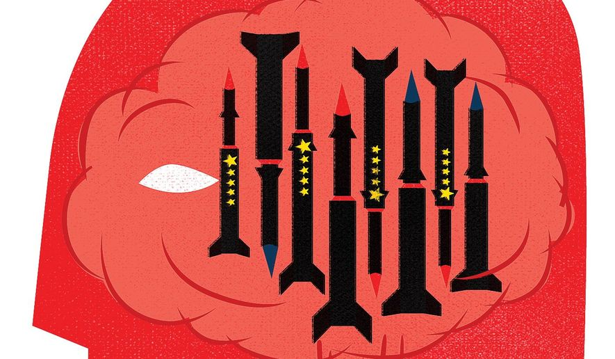 U.S. Nuclear Strategy Illustration by Linas Garsys/The Washington Times