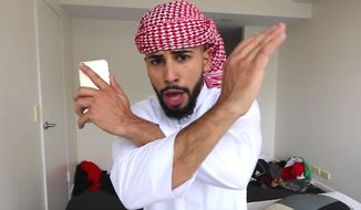 YouTube prankster Adam Saleh claims he was kicked off a Dec. 20, 2016, Delta flight at Heathrow Airport in London for speaking Arabic on the phone. (YouTube, Adam Saleh)