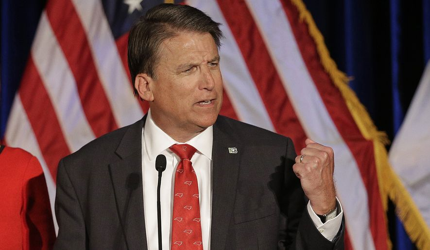 North Carolina Gov. Pat McCrory had called a special session to repeal HB2, which had required that public facilities such as bathroom and locker rooms be segregated according to biological sex, rather than gender identity. (Associated Press)