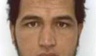 The photo which was sent to European police authorities and obtained by AP on Wednesday, Dec. 21, 2016 shows Tunisian national Anis Amri who is wanted by German police for an alleged involvement in the Berlin Christmas market attack. Several people died when a truck ran into a crowded Christmas market on Dec. 19. (Police via AP)