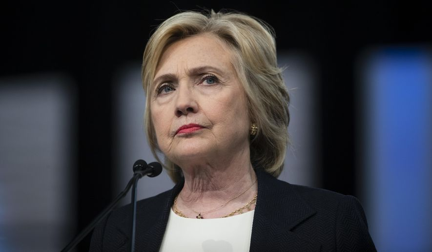 Democratic presidential candidate Hillary Clinton speaks at the African Methodist Episcopal church national convention in Philadelphia in this July 8, 2016, file photo. (AP Photo/Matt Rourke, File)