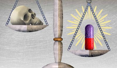 FDA Pharmaceutical Approval Process Illustration by Greg Groesch/The Washington Times