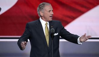 FILE-In this Tuesday, July 19, 2016 file photo, Lt. Gov. Henry McMaster of South Carolina nominates Donald Trump as the Republican Candidate for President during the second day of the Republican National Convention in Cleveland. McMaster, 69, who will replace South Carolina Gov. Nikki Haley if she joins Donald Trump's Cabinet is a large contrast from the nationally popular daughter of Indian immigrants who has been the face of the state for six years. (AP Photo/J. Scott Applewhite, File)
