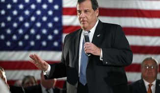 FILE - In this Oct. 18, 2016, file photo, New Jersey Gov. Chris Christie addresses a gathering at a public forum in New Providence, N.J. The two-term Republican governor had a rough year in 2016. He quit his presidential race after a disappointing finish in New Hampshire. In New Jersey, he has record-low approval ratings in recent polls and was rebuked by lawmakers when he sought key legislation to let him write a book while in office. He also saw two former members of his former inner circle convicted of felonies in the 2013 George Washington Bridge lane closure scandal. (AP Photo/Mel Evans, File)