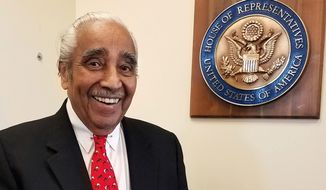 """I think the elections have made it less painful for me to leave. One of the things that I've always said: 'If you don't enjoy each and every day as a public servant and a member of this great Congress, it's time to get out,'"" said Rep. Charles B. Rangel, New York Democrat. (Associated Press)"