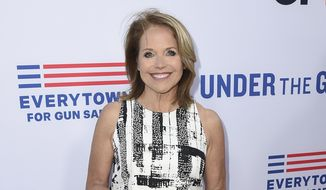 """In this May 3, 2016, file photo, Katie Couric attends the LA premiere of her documentary """"Under The Gun"""" in Beverly Hills, Calif. Couric returned to the """"Today"""" show Monday, Jan. 2, 2017, to co-anchor for the first time since she left the program in 2006. (Photo by Jordan Strauss/Invision/AP, File)"""