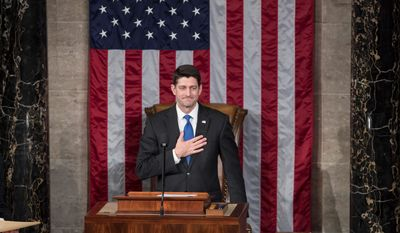 Speaker Paul D. Ryan, Wisconsin Republican, thanked House members for an easy re-election to his leadership position on Tuesday. House Republicans are more unified than they have been in years. Mr. Ryan lost the support of only one party member.