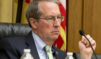 FILE- In this May 19, 2015, file photo, House Judiciary Committee Chairman Rep. Bob Goodlatte, R-Va., listens to testimony on Capitol Hill in Washington. House Republicans on Monday, Jan. 2, 2017, voted to eviscerate the Office of Congressional Ethics. Under the ethics change pushed by Goodlatte, the independent body would fall under the control of the House Ethics Committee, which is run by lawmakers. (AP Photo/Jacquelyn Martin, File)