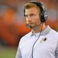 Washington Redskins offensive coordinator Sean McVay is likely to be interviewed for a few coaching vacancies. (Associated Press)