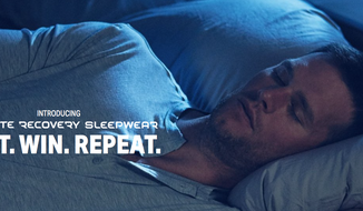 Tom Brady, New England Patriots quarterback, is shown here modeling Under Armour's new Athlete Recovery Sleepwear. (Screen capture from UnderArmour.com)