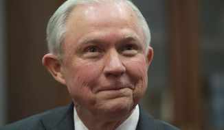 In this Nov. 29, 2016, file photo, Attorney General-designate Sen. Jeff Sessions, R-Ala., is seen on Capitol Hill in Washington. (AP Photo/Molly Riley) ** FILE **