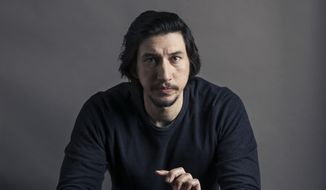 "This Dec. 14, 2016, photo shows actor Adam Driver poses for a portrait in New York. Driver stars in the films, ""Paterson,"" and ""Silence."" (Photo by Victoria Will/Invision/AP)"