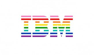 IBM has unveiled a new logo that incorporates the rainbow pride flag as a show of solidarity with the LGBT community. (IBM)