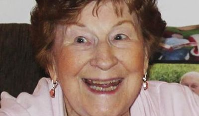 """This undated photo provided by Cat Doyle at the Catholic Church of the Transfiguration shows Olga Woltering of Marietta, Ga. The devout Catholic woman who lived in Georgia was among those killed in the Fort Lauderdale, Fla., airport shooting on Friday, Jan. 6, 2017. That's according to her church, which confirmed the death of Olga Woltering in a statement on its website Saturday, the day after the attack. The Catholic Church of the Transfiguration said the native English woman who had long lived in the Atlanta suburb of Marietta """"was so charming, calling everybody 'Lovey' or 'Love' in her unmistakable British accent."""" (Tim Woltering/Cat Doyle of Catholic Church of the Transfiguration via AP)"""
