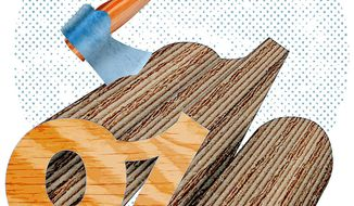 Chopping Away at the Tax and Regulation Overload Illustration by Greg Groesch/The Washington Times