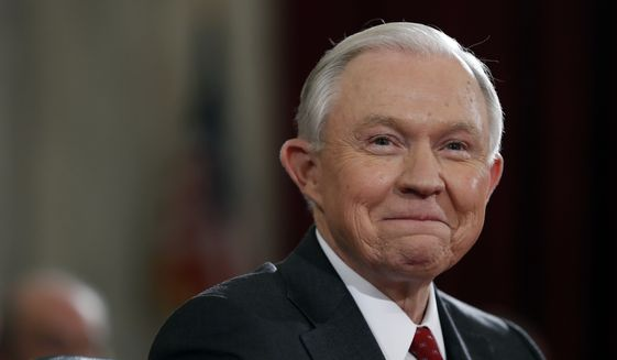 Attorney General-designate, Sen. Jeff Sessions, R-Ala. smile as he testifies on Capitol Hill in Washington, Tuesday, Jan. 10, 2017, at his confirmation hearing before the Senate Judiciary Committee. (AP Photo/Alex Brandon)