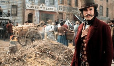 """Daniel Day-Lewis, Gangs of New York  (2002) set in the mid-19th century in the Five Points district of New York City. It was directed by Martin Scorsese and written by Jay Cocks, Kenneth Lonergan, and Steven Zaillian. The film was inspired by Herbert Asbury's 1927 nonfiction book, The Gangs of New York. It was made in Cinecittà, Rome, distributed by Miramax Films and nominated for numerous awards, including the Academy Award for Best Picture. The film begins in 1846 and quickly jumps to 1862. Two issues of the era in New York were Irish immigration to the city and the Civil War. The story follows gang leader Bill """"The Butcher"""" Cutting (Daniel Day-Lewis) in his roles as crime boss and political kingmaker under the helm of """"Boss"""" Tweed (Jim Broadbent). The film culminates in a violent confrontation between Cutting and his mob with the protagonist Amsterdam Vallon (Leonardo DiCaprio) and his immigrant allies, which coincides with the New York Draft Riots of 1863. Daniel Day-Lewis was nominated for Best Actor but lost to Adrien Brody,The Pianist"""