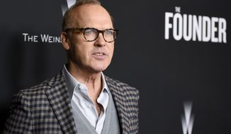 """Michael Keaton arrives at the U.S. premiere of """"The Founder"""" at the Cinerama Dome at ArcLight Hollywood on Wednesday, Jan. 11, 2017, in Los Angeles. (Photo by Chris Pizzello/Invision/AP)"""