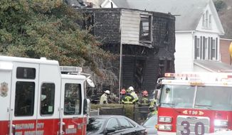 Rep. Elijah Cummings gave a tearful statement Thursday after Katie Malone, a special assistant at his Catonsville office, lost six of her nine children in a Baltimore house fire. (WBAL)