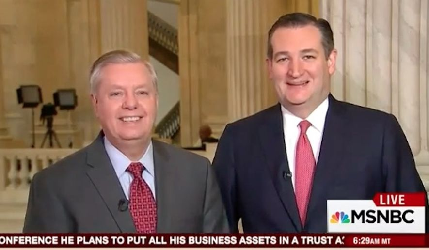 Sen. Lindsey Graham gave a lighthearted apology to fellow Republican Sen. Ted Cruz on Thursday for joking about his murder during the presidential primary. (MSNBC)