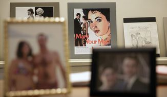 "In this Monday, Jan. 9, 2017 photo, donated props from the show ""Mad Men"" are seen on display at the University of Texas' Harry Ransom Center humanities library in Austin, Texas. Included in the donation are boxes of scripts, drafts and notes, props, costumes, digital video and reams of research materials that went into creating the show's richly-detailed presentation of the American 1960s. (AP Photo/Eric Gay)"