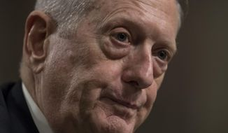 Defense Secretary-designate James Mattis testifies on Capitol Hill in Washington, Thursday, Jan. 12, 2017, at his confirmation hearing before the Senate Armed Services Committee.  (AP Photo/J. Scott Applewhite)