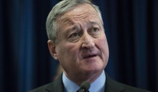 Philadelphia Mayor Jim Kenney speaks during a news conference in Philadelphia, Friday, Jan. 13, 2017. (AP Photo/Matt Rourke)