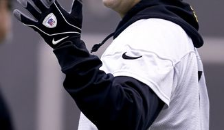 Pittsburgh Steelers quarterback Ben Roethlisberger watches his team work out during an NFL football practice, Wednesday, Jan. 11, 2017, in Pittsburgh. The Steelers face the Kansas City Chiefs in an AFC Divisional playoff game on Sunday. (AP Photo/Keith Srakocic)