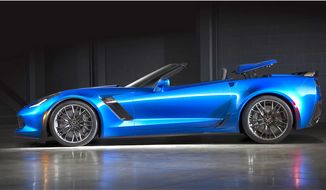 Vice President Joe Biden admires the Chevrolet Corvette Z06, according to Road & Track. (image courtesy of Chevrolet)