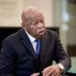 Rep. John Lewis, Georgia Democrat, stirred up a Twitter storm when he questioned the legitimacy of Donald Trump's election. (Associated Press)