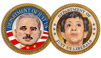 Obama Justice Department Corruption Illustration by Greg Groesch/The Washington Times
