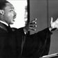 One writer has criticized the fact that much coverage of Dr. Martin Luther King Jr. often omits the late reverend's religious convictions. (Associated Press)