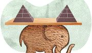 Elephant With Two Pyramids Illustration by Greg Groesch/The Washington Times