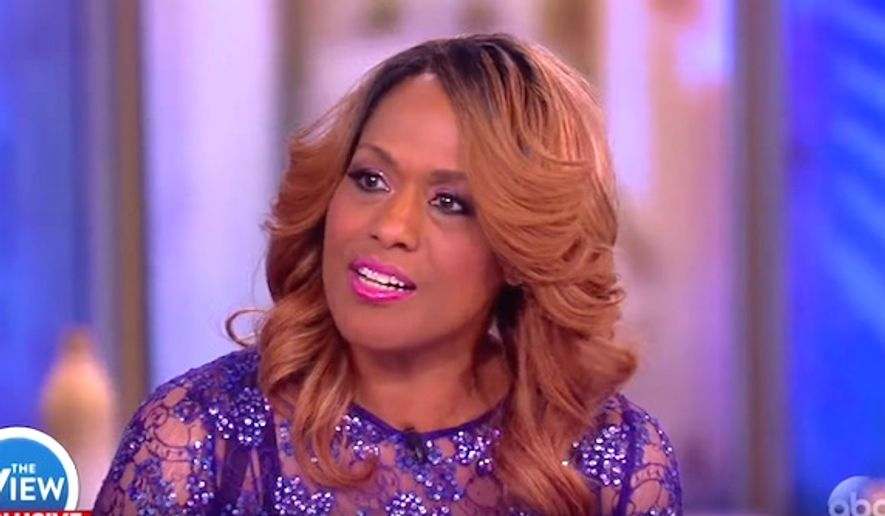 """Singer Jennifer Holliday told the cast of """"The View"""" on Tuesday, Jan. 17, 2017, that death threats prompted her to cancel her performance at President-elect Trump's inauguration. (YouTube, """"The View"""")"""