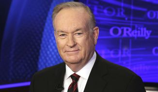 """In this Oct. 1, 2015 file photo, Bill O'Reilly of the Fox News Channel program """"The O'Reilly Factor,"""" poses for photos in New York. (AP Photo/Richard Drew, File)"""